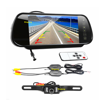 Rear View Camera System >> Dc12v Wired Wireless 7inch Rear View Mirror Monitor Backup Camera System Kt 602h Kt 113 Buy Rear View Mirror Backup Camera Wireless Camera System