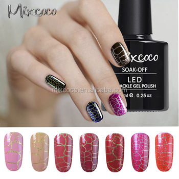 2017 Mixcoco Nail Art Designs Uv Gel Nail Polishcrackle Gel Polish