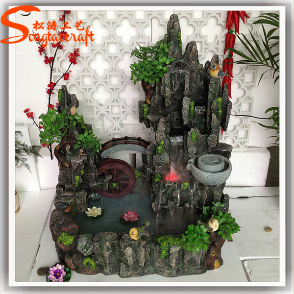 Wholesale Guangzhou Factory Mini Indoor Artificial Waterfall Rocks  Decorative Waterfall Fountain
