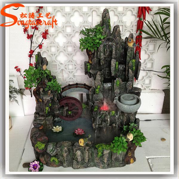 Wholesale Guangzhou Factory Mini Indoor Artificial Waterfall Rocks  Decorative Waterfall Fountain