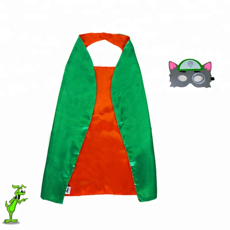 Simple Design Solid Color <strong>Superhero</strong> <strong>Capes</strong> With Masks For <strong>Kids</strong> Daily Pretend Play Dress up Costumes Party Decorations