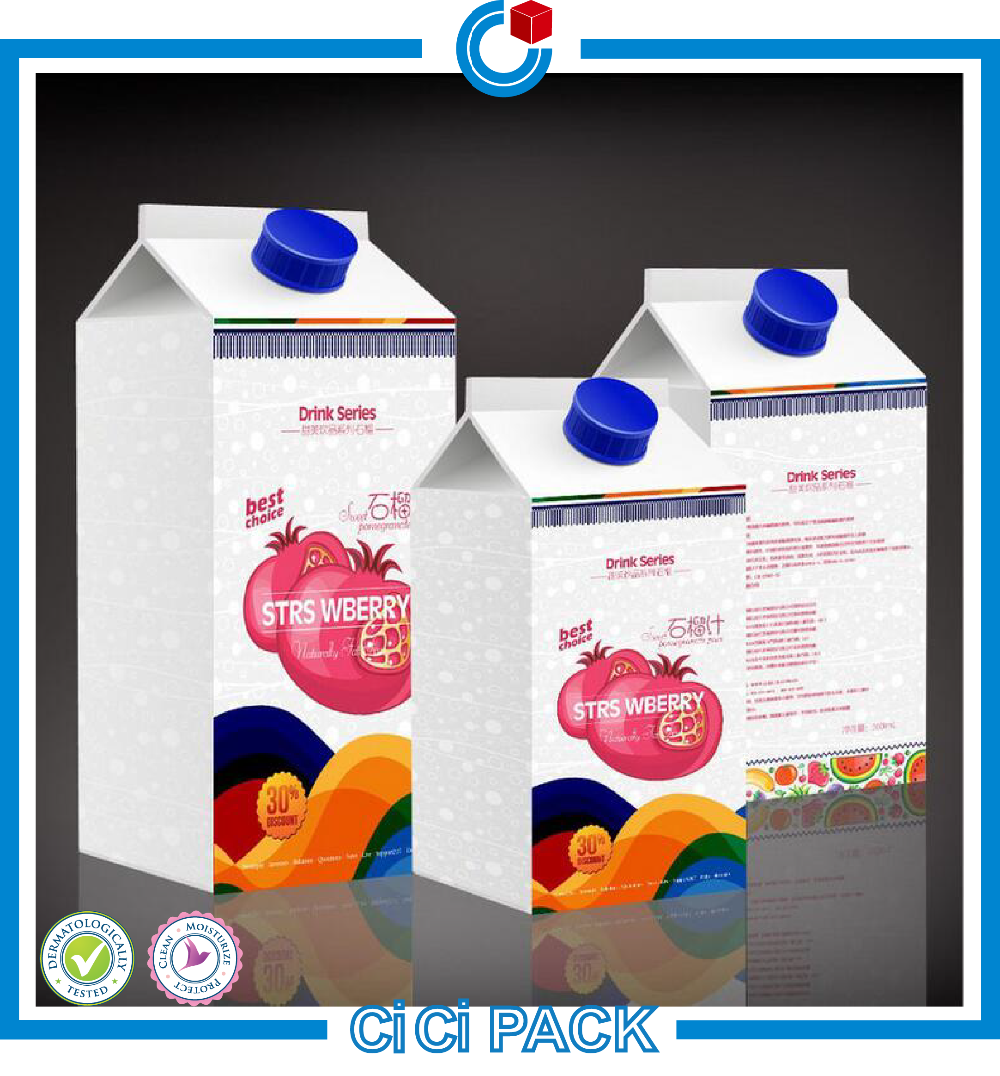 Food Grade Milk Carton Box, Custom Milk Packaging Box, Milk Box Packaging Factory