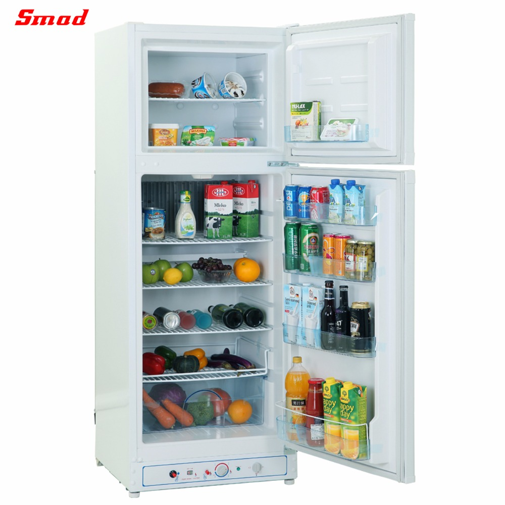 Hot sale Front Mounted Control Manual Defrost Gas refrigerator with CE