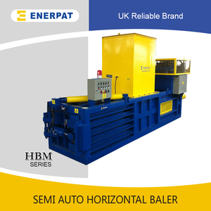 Horizontal PET Bottle Baler/Plastic Bottle/Cardboard/Paper Baler with manual tying and automatic press system
