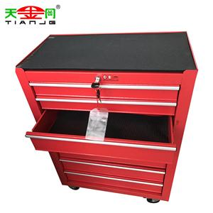 TJG Cheap 7 Drawers Steel CNC Tool Storage Cabinets With 4 Wheels