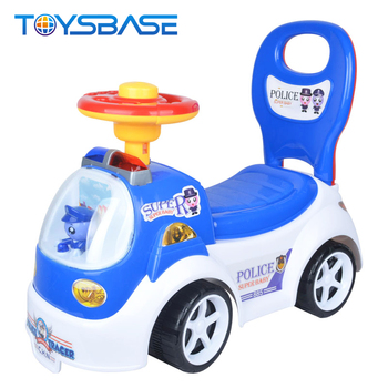Carros de Juguete | Popular 4 Wheel Learning Walker Kids Police Ride On Car