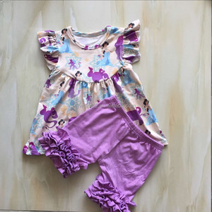 CX-541 Whoelsale brand name clothing kids summer clothes princess printed children's boutique clothing