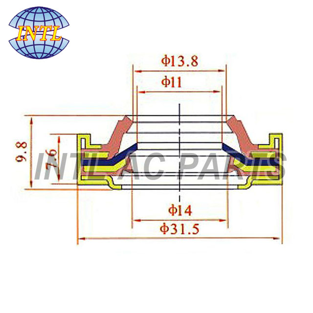 SHAFT SEAL  Lip seal for Bus