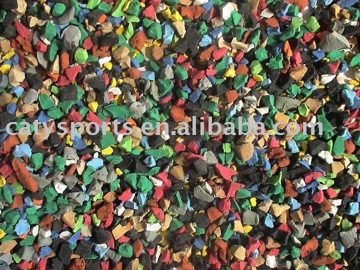Multicolor Rubber Granule Fill In Artificial Grass