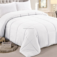 Hypoallergenic Comforter Duvet Insert White Quilted Comforter Plush Fiberfill Box Stitched Down Alternative Comforter