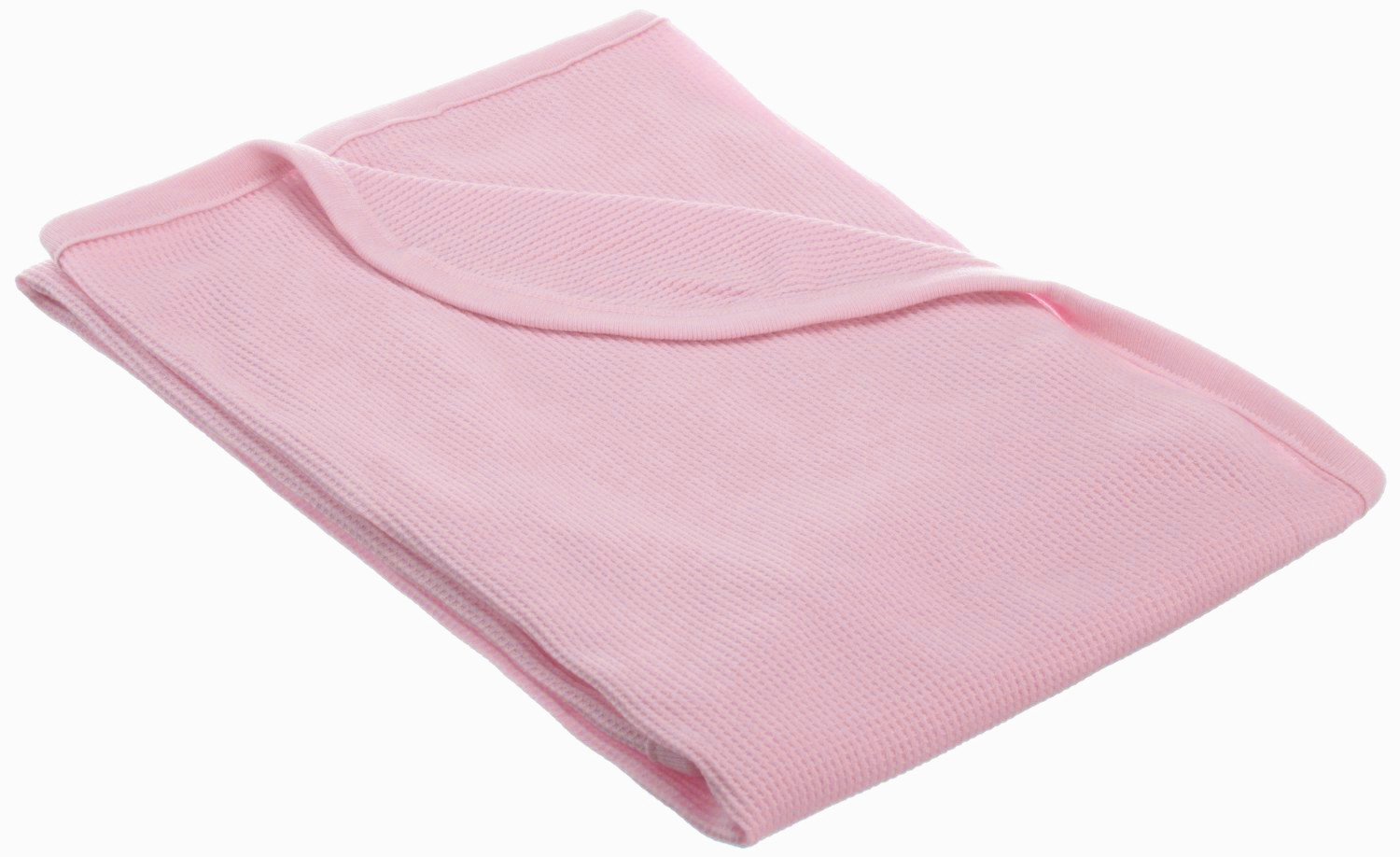 American Baby Company Full Size 30 X 40 - 100% Cotton Swaddle/Thermal Blanket, Pink