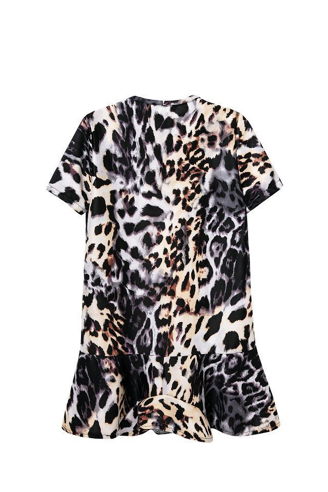 eb63570973 Get Quotations · Wholesale 2014 summer new European style animal prints  leopard print short-sleeved dress women skirt