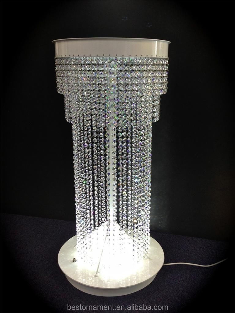 wedding floor lamp crystal chandelier pillars - buy decorative