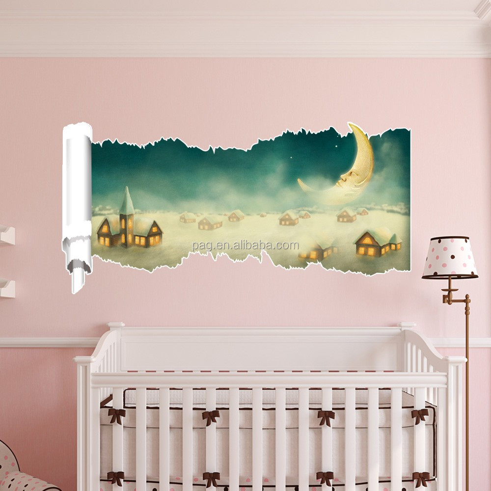 Pag fashion removable creative animal cartoon diy 3d wall for Bedroom 3d wall stickers