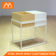 New product China Manufacturers Wooden Steel Cabinets Miniso Shelf Stand For Display Toy Goods