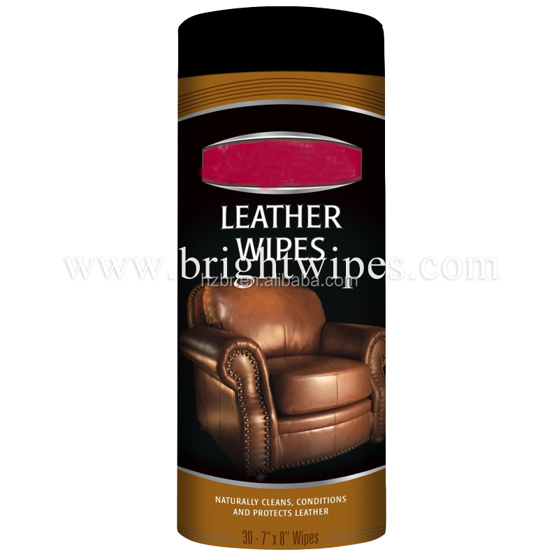 Leather Polishing Cleaning Wipes for All Kind Leather