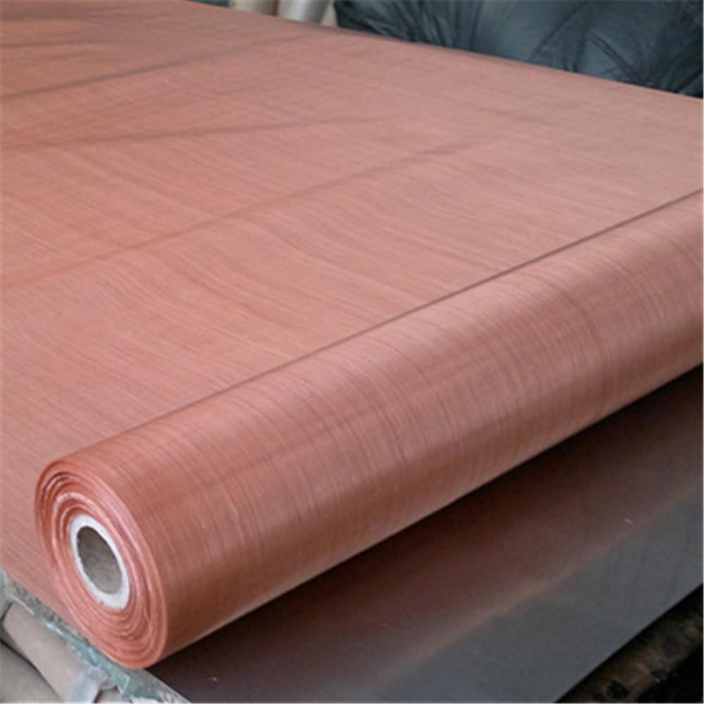 Ultra fine 200 mesh copper metal wire mesh for emf shielding