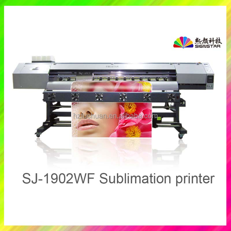Signstar SJ-1902WF wide format sublimation printer with 5113 head