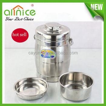 Eco Friendly Stainless Steel Drum Food Warmerhot Box Food Warmer