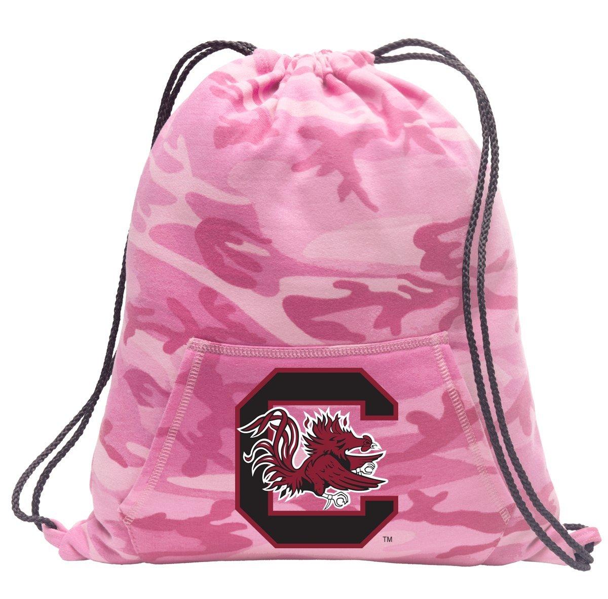 Cute Camo University of South Carolina Drawstring Bag Hoody South Carolina Gamecocks Cinch Pack for Girls & Women