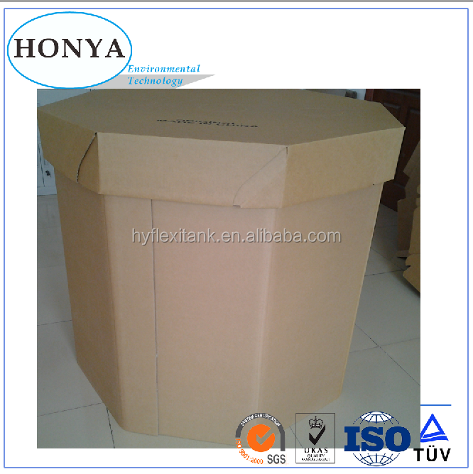Corrugated Shipping Packaging Paper box Flexible Food-grade Octagonal Paper IBC