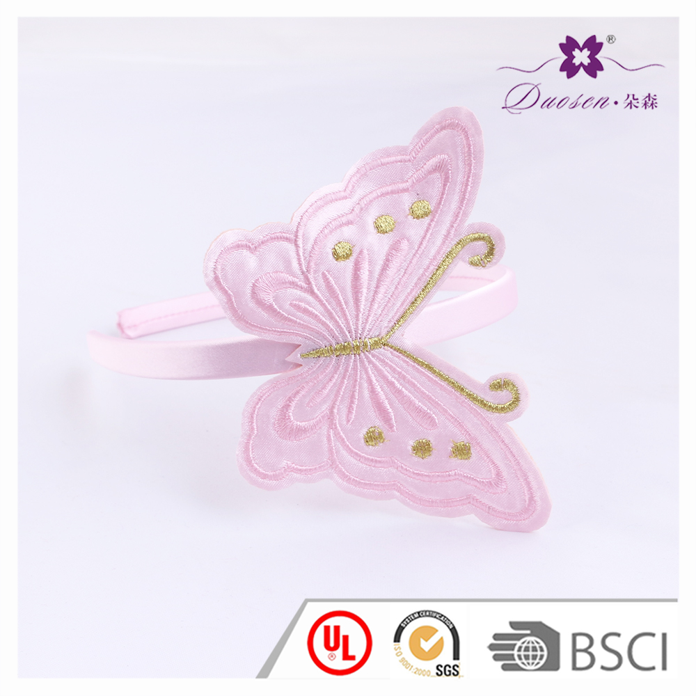 Baby Accessories Party Decoration Plastic Butterfly Shaped Pink Baby Headband