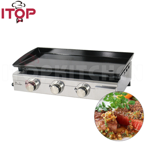 3 Burners Stainless Steel Gas Plancha LPG Griddles Gas BBQ Grills Heavy Duty Grills SP-7.5