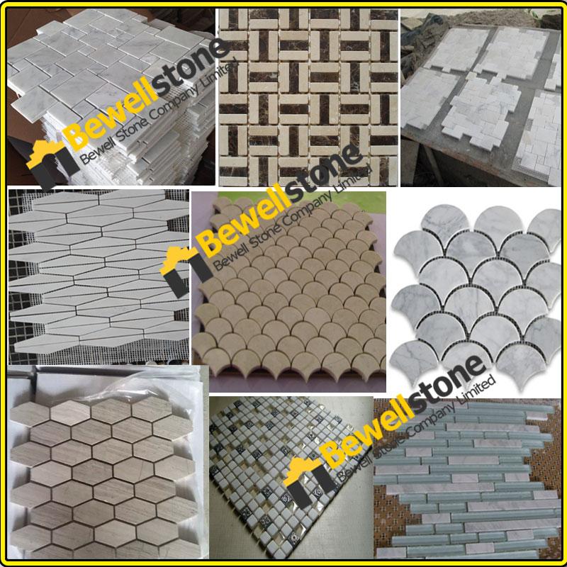 besten preis italienischen calacatta fliese marmor mosaik wasserstrahl blumenmuster marmor. Black Bedroom Furniture Sets. Home Design Ideas