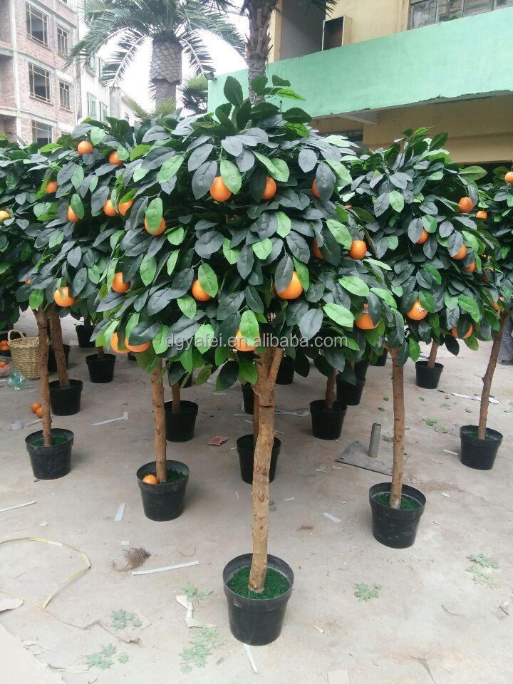 Nouveaux produits faux ficus arbre vert artificiel ficus arbre fruitier pour la d coration - Arbre deco interieur ...