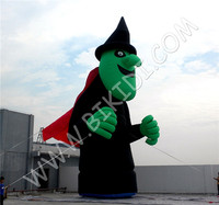 Hot sale giant halloween inflatable witch balloon inflatable monster scary giant C1046