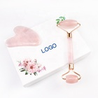 Amazon Branded OEM/ODM Private Label Skin Care Face Lift Massage Beauty Pink Rose Quartz Jade Roller