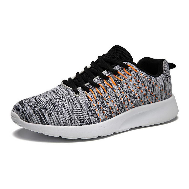 ventilation durable knitted sport shoes for men