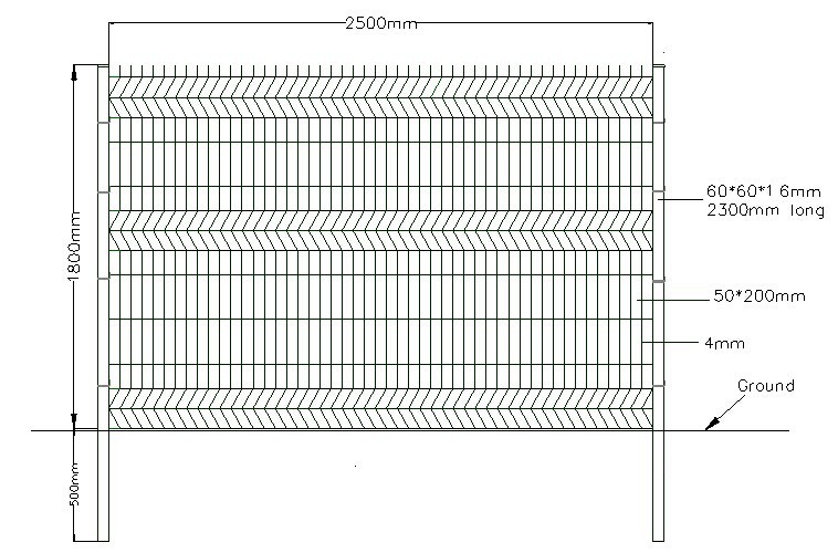 Triangular bending wire mesh fence buy