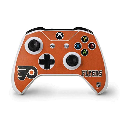 NHL Philadelphia Flyers Xbox One S Controller Skin - Philadelphia Flyers Distressed Vinyl Decal Skin For Your Xbox One S Controller