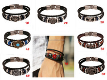 Personalized Mens Womens Leather Bracelet, Love Infinity Charm Bangle