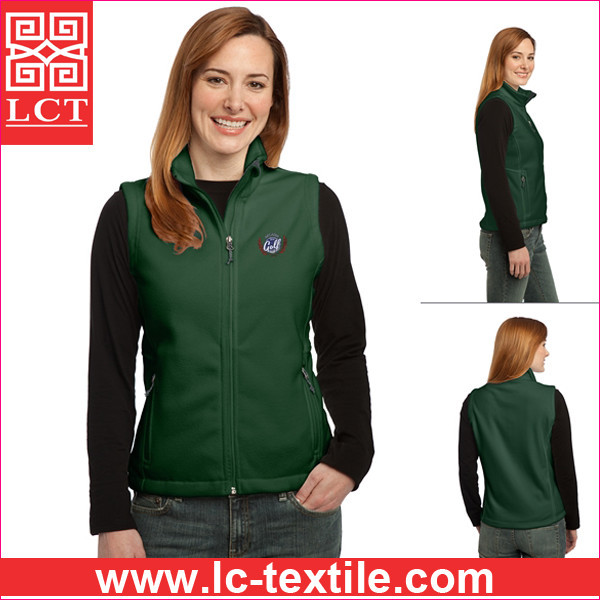 wholesale Reversible Terra-Tek Nylon and Fleece faced design lady fleece Vest with zippered pockets(LCTU0045)