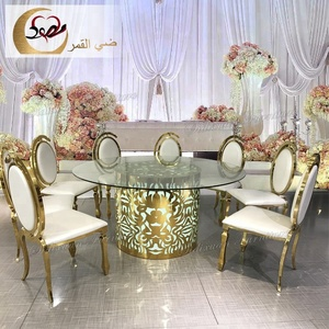 led light wedding event round banquet table and chairs