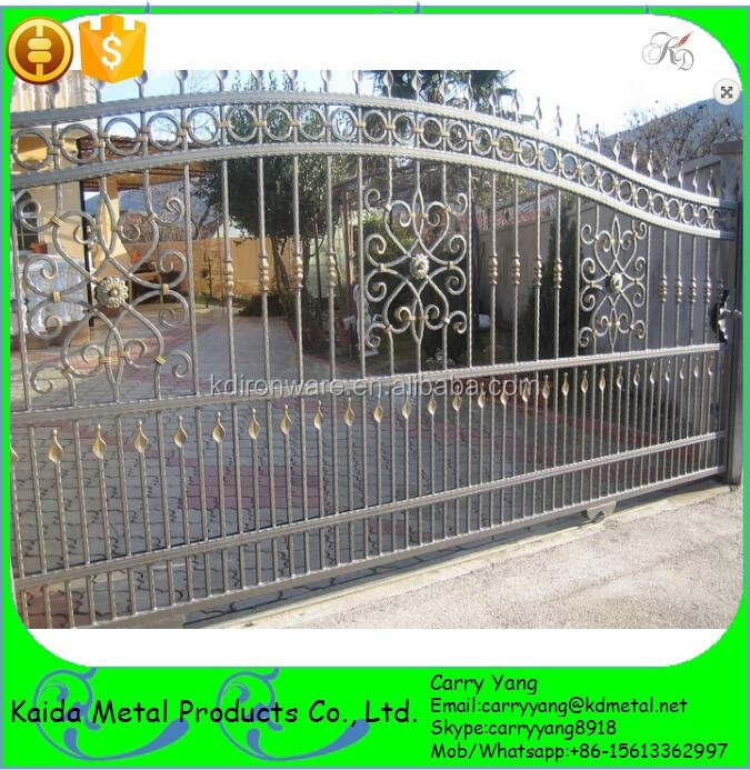 Fencing trellis gates type wrought iron sliding main - Sliding main gate design for home ...