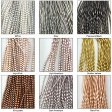 Factory wholesale 3-12mm coloured faux pearl strands