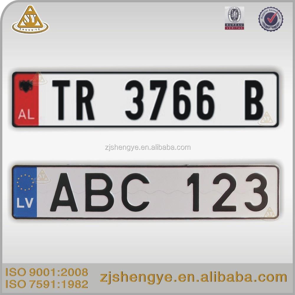 Decorative Euro Reflective Aluminum Car Number Plate Buy Euro Car