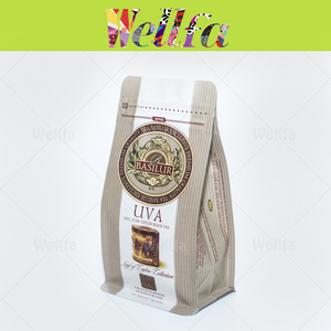 Custom Printed Biodegradable Tea Packaging Kraft Paper Foil Bag For Tea