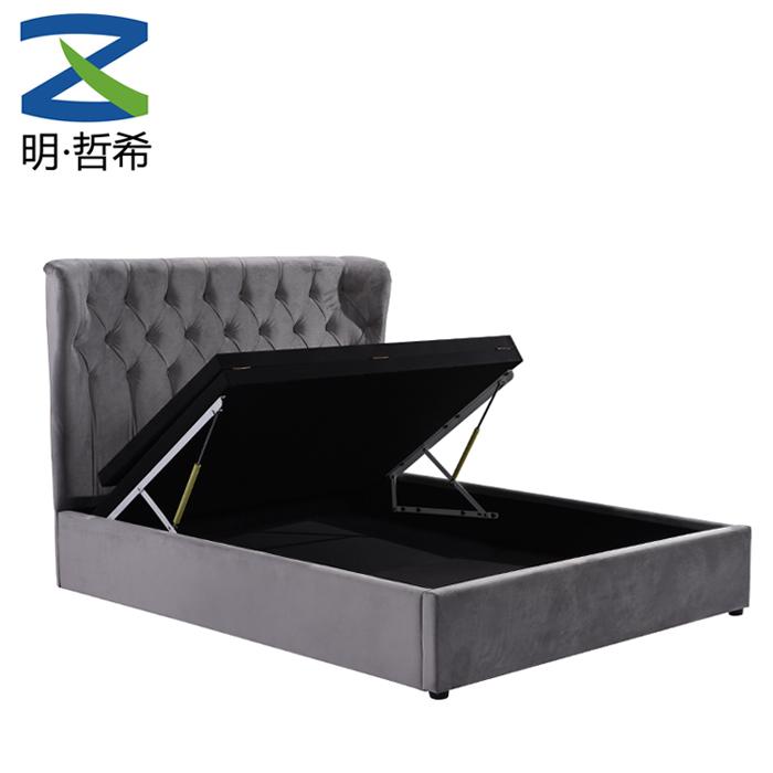 King Single Bed Frame Lift Up Storage
