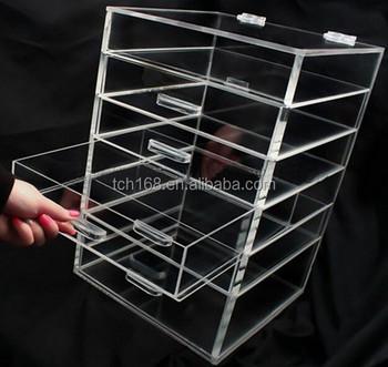 Acrylic Clear Makeup Organiser Cosmetic Storage Drawers Jewellery Box , Buy  Plastic Drawer Storage Box,Acrylic Drawer Storage Box,Acrylic Makeup