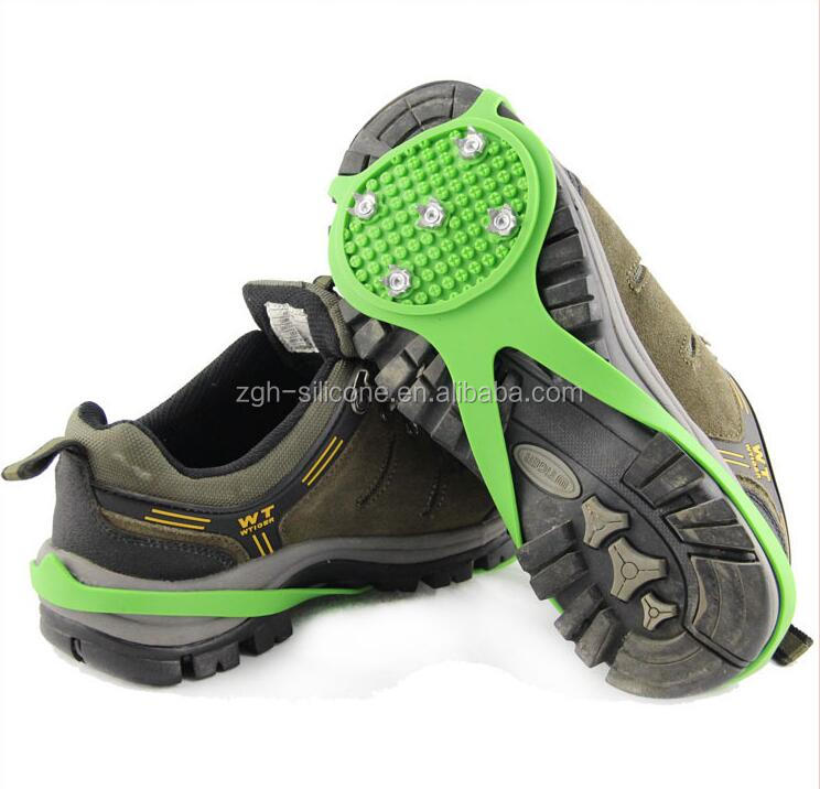 Antislip spikes/grips crampons for shoes Silicone crampons