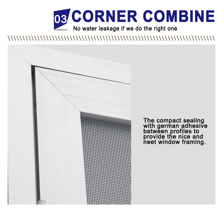 Double security flyscreen casement door aluminum security mesh hinge door