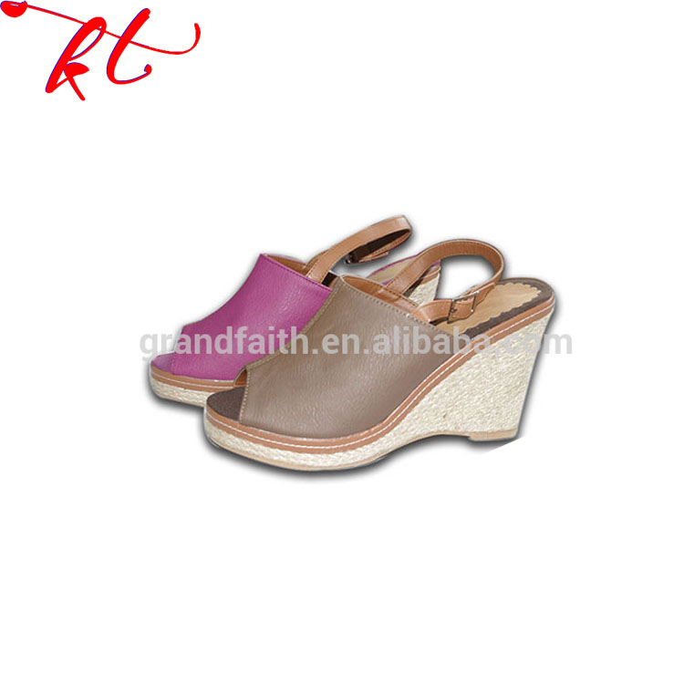 Factory Promotional Cute Printing Fashionable Girls High Platform Heel Sandals