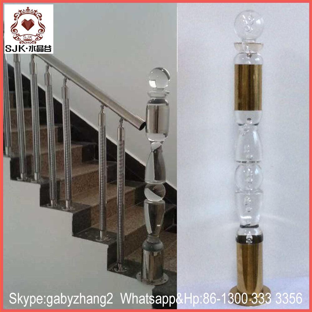 Crystal Railings For Indoor Stair Railing , Plexiglass Railings