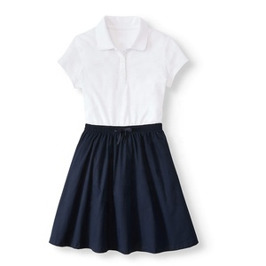 Wholesale school uniform design for girls Primary School & Middle School high quality with cheap factory price oem custom