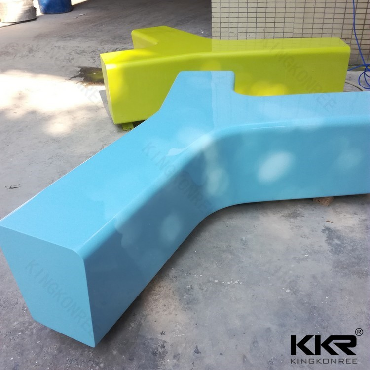 Long solid surface school benches for sale