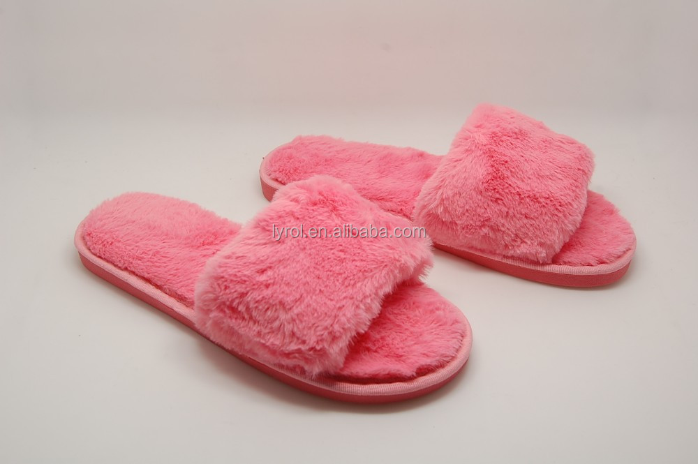 2017 cheap wholesale house <strong>slippers</strong> for women fancy <strong>slippers</strong> plush open toe <strong>slippers</strong>